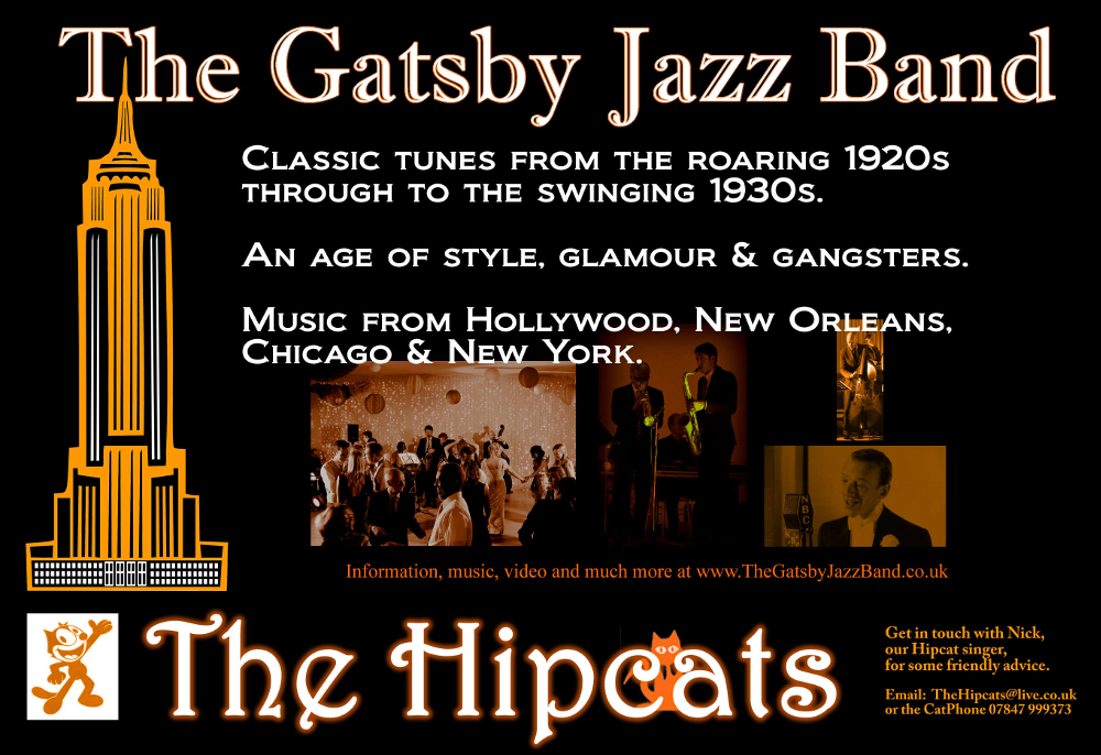 The Gatsby Jazz Band Hire - 1920s and 1930s jazz & swing band hire - UK.
